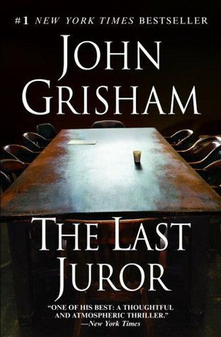 The Last Juror - John Grisham.  ... http://scotfin.com/ says, I saw John Grisham's name on a list of self-published authors rejected many times, 15 publishers, 30 agents apparently. I don't feel so bad now.  Oh, and The Last Juror, it is an excellent book.