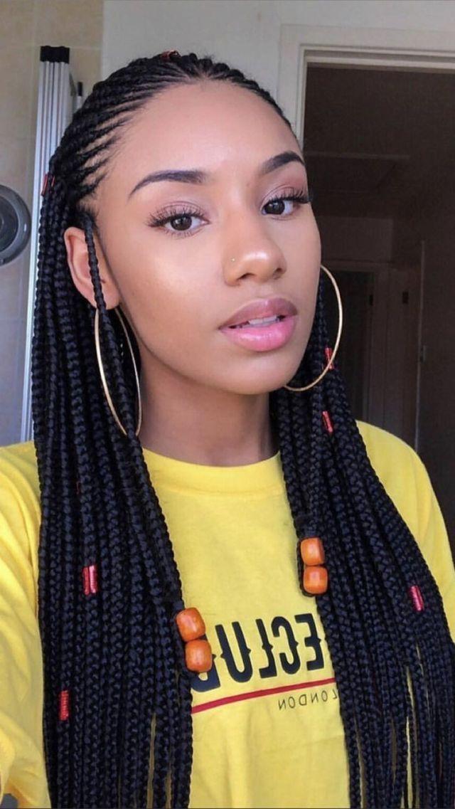 So Cute Tranças Em 2019 Penteados Tranças Negras