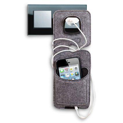 2 x Filz Handyladestation Handyhalter Ladestation Smartphoneladetasche Ladetasche 26 cm