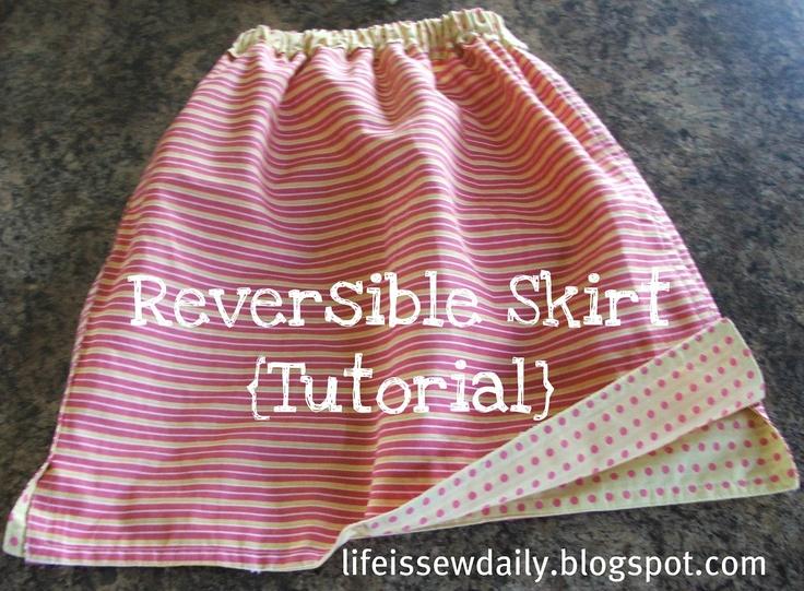 Reversible Girl's Skirt {Tutorial}