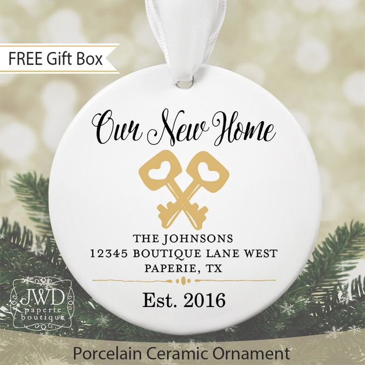 New Home Ornament Personalized New Home Christmas Ornament New Homeowner Gift Personalized Housewarming Gift New Home Gift #OR14MG by JWDBoutique on Etsy https://www.etsy.com/listing/470266788/new-home-ornament-personalized-new-home