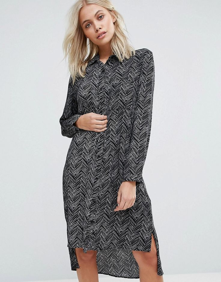 Buy it now. QED London Printed Shirt Dress - Black. Dress by QED London, Semi-sheer woven fabric, Point collar, Button placket, Stepped hem, All-over print design, Regular fit - true to size, Machine wash, 100% Polyester, Our model wears a UK S/EU S/US S and is 168cm/5'6 tall. , vestidoinformal, casual, camiseta, playeros, informales, túnica, estilocamiseta, camisola, vestidodealgodón, vestidosdealgodón, verano, informal, playa, playero, capa, capas, vestidobabydoll, camisole, túnica, shi...
