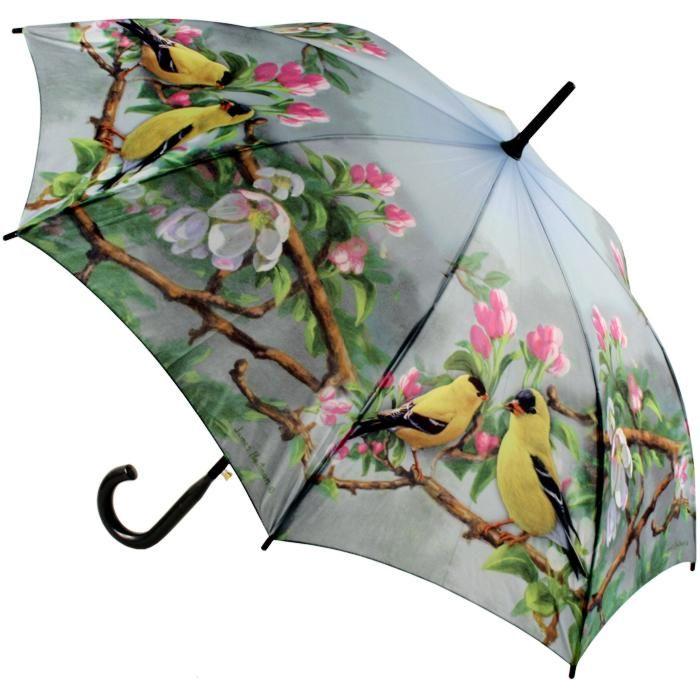 Paraply med fugle