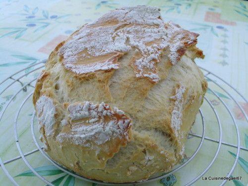 Pain cocotte ultra pro 2.5l rond tupperware Hum, le bon pain maison... cela fait longtemps que je n'en avais plus fait... Il faut peu d'ingrédients, et c'est rapide... Pour le faire 150ml de biere + eau (moitié, moitié) 1/2 cube de levure 250g de farine...