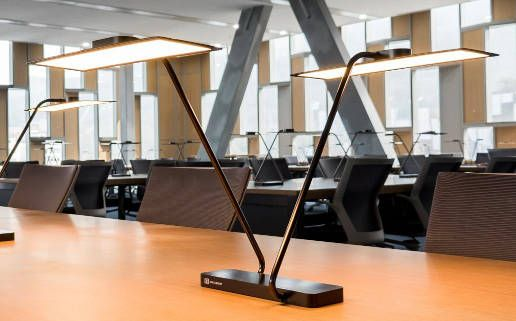 The OLED choice of the Library has been dictated from energy efficiency and visual comfort related to this technology. | #ledlab #blog #lighting #design #OLED #seoul