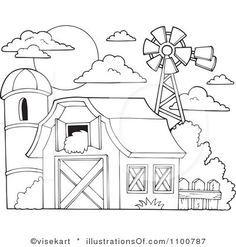 clipart black and white barn - Google Search