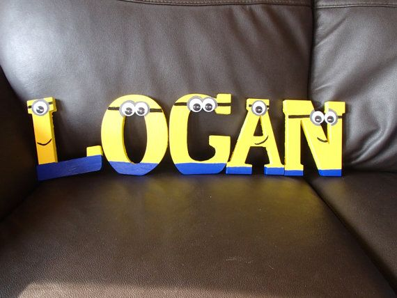 Despicable Me minion letters by KidsWhimsicalNames on Etsy