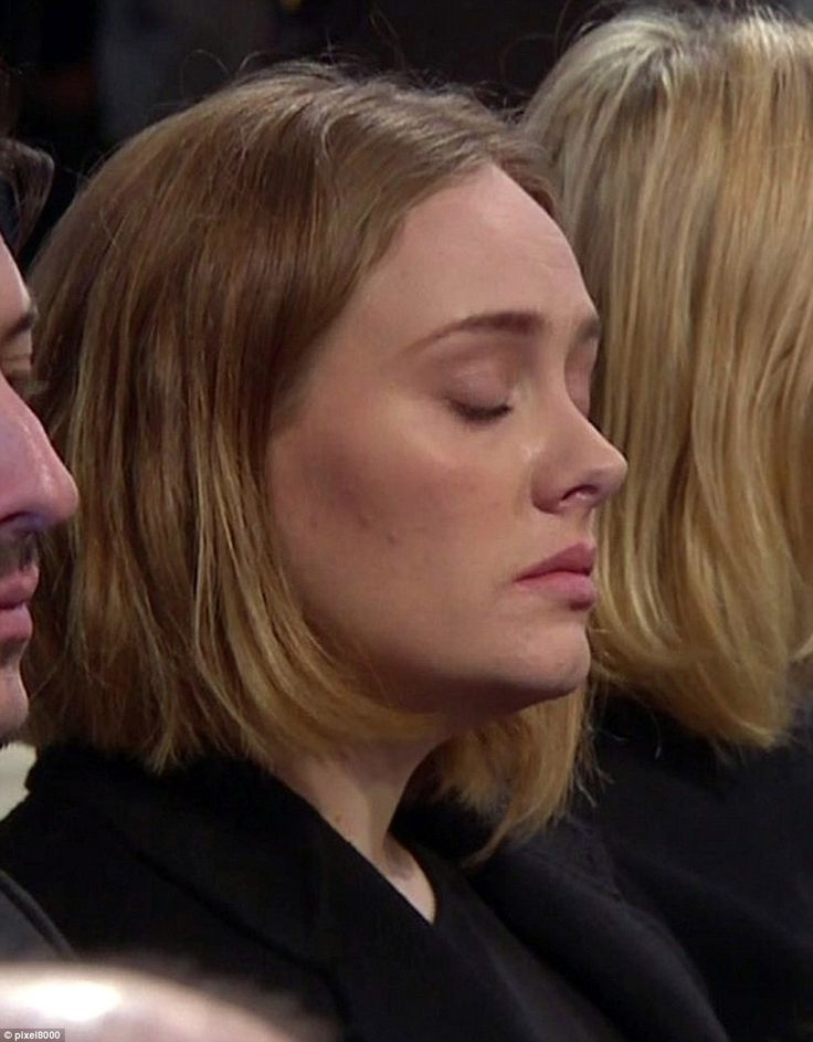 Adele, pictured, even had to close her eyes to fight back the tears. The star previously visited the scene of the fire hours after the incident to comfort the families