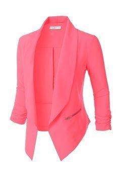 Open Front 3/4 Sleeve Blazer