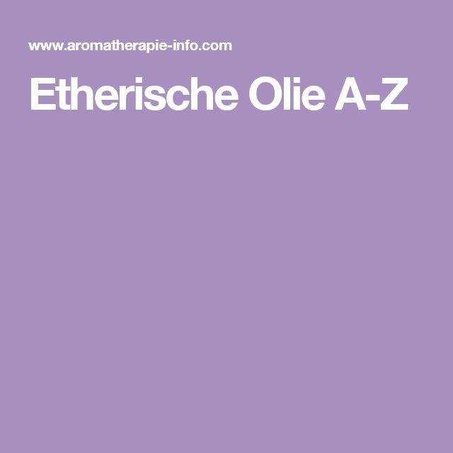 Etherische Olie A-Z