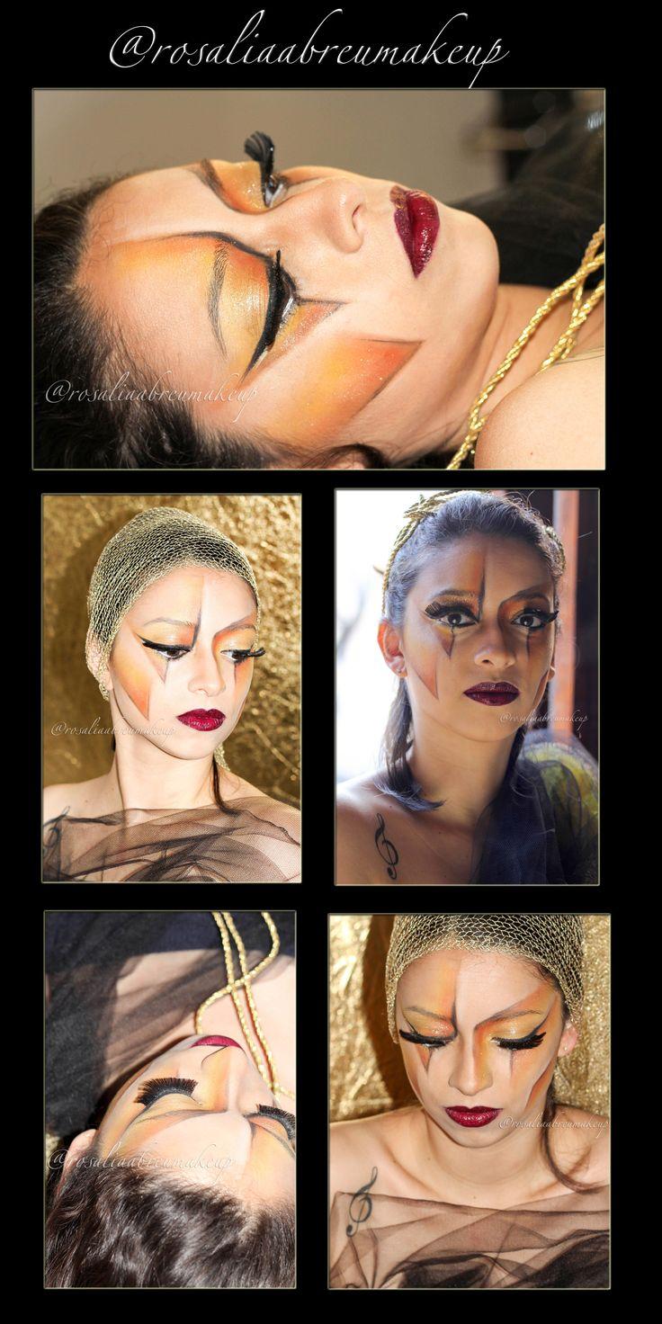 Maquiagem artística/conceitual! Uma leitura do Grafismo! Maquiagem/Makeup: Rosália Abreu