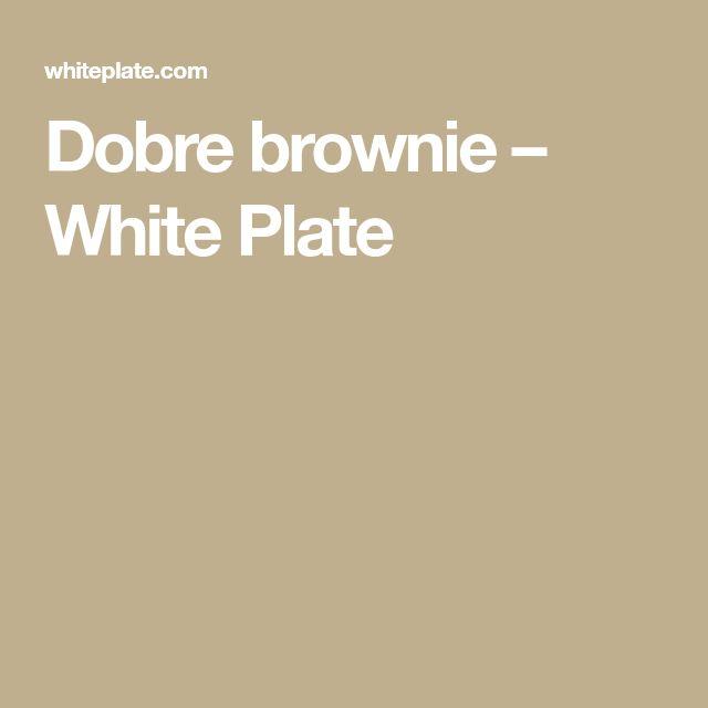 Dobre brownie – White Plate