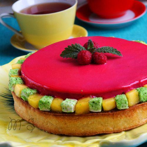 Тарт с малиной, манго и шоколадом   Мой сундучок