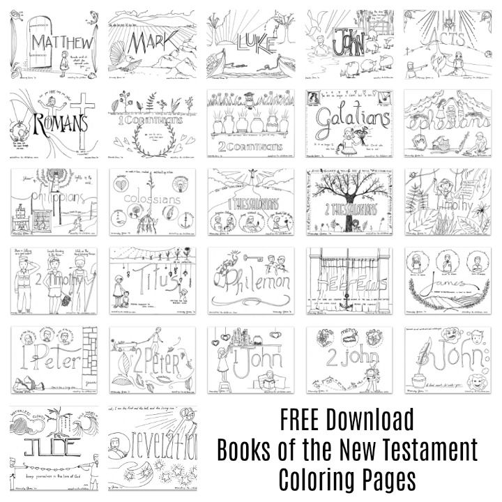 free coloring sheets for every page of the new testament