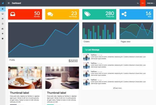 Tui2Tone Flat Admin at BootstrapZero