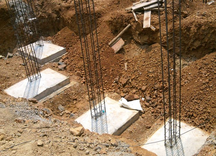 INDIVIDUAL FOOTING (Shallow) - are one of the most simple and common types of foundations.  These are used when the load of the building is carried by columns. Usually, each column will have its own footing. The footing is just a square or rectangular pad of concrete on which the column sits.