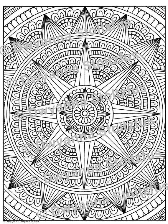 Stress Relieving Pattern 26 Coloring Page Jpg Coloring Pages