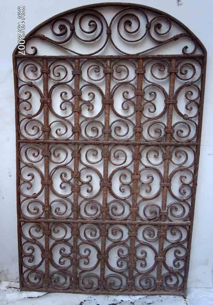 Wrought Iron Victorian Gate Hanging Wall Garden Decor 5