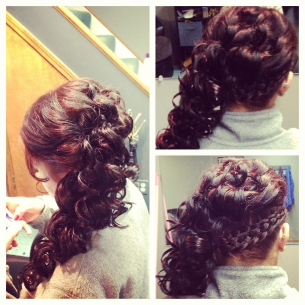 Fabulous Side Curls 5 Strand Braids And Prom Hair On Pinterest Hairstyle Inspiration Daily Dogsangcom
