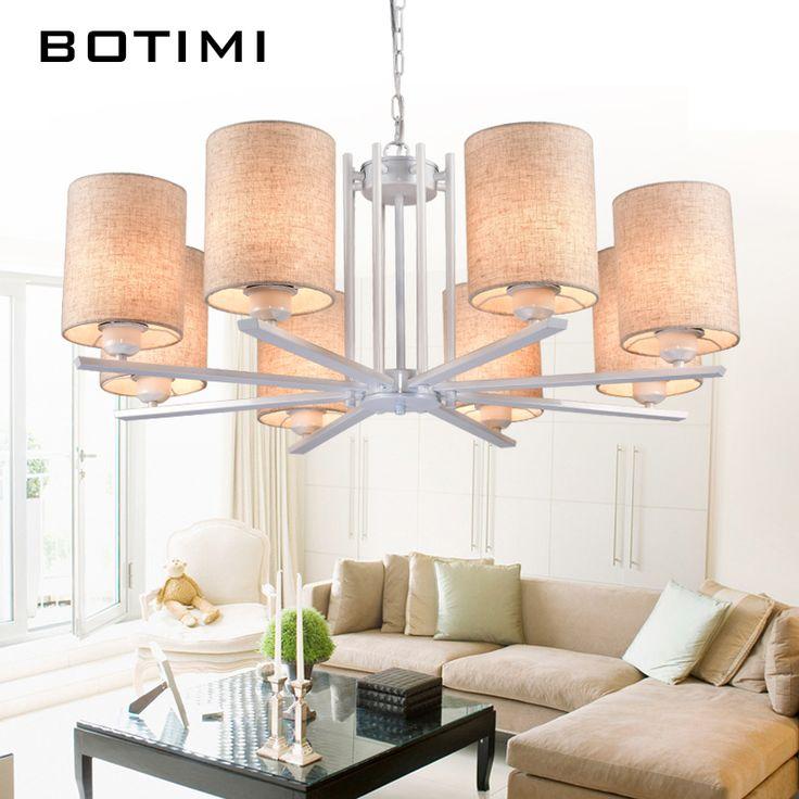 Botimi Nordic люстры белье Люстра для гостиной столовой подвесной светильник черный, красный висит светильники купить на AliExpress