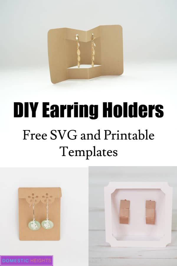 Earring Card Template Free Earring Cards Template Diy Jewelry Cards Earring Cards