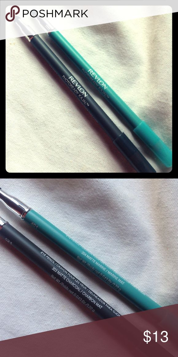Revlon Eyeliners Photoready kajal in matte marine 304 & matte charcoal 303 Revlon Makeup Eyeliner