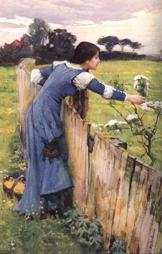 J.W. Waterhouse: Artists, Preraphaelit, Pre Raphaelit, Dresses, Flowers Pickers, John William Waterhouse, Painting, John Williams Waterhouse, John Waterh