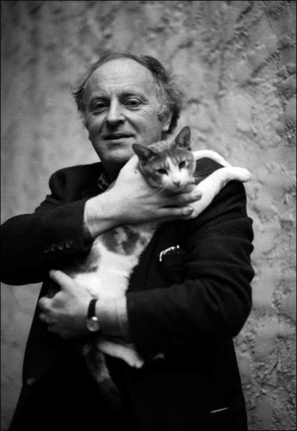 Brodsky with his cat Mississippi