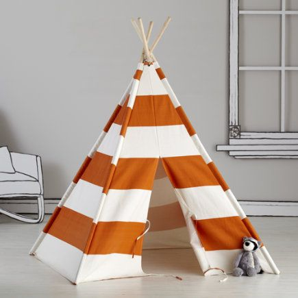 Kids Imaginary: Orange Stripe Play Teepee - Orange Stripe Teepee