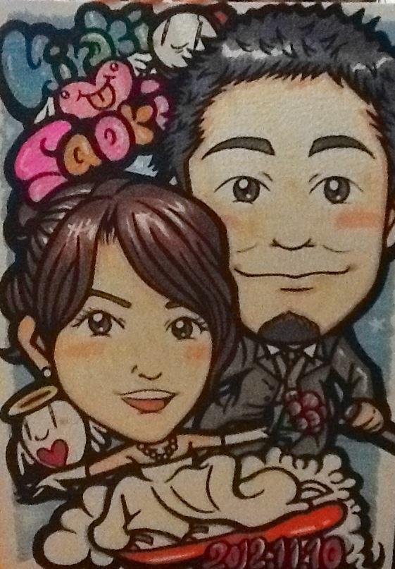 For Hiroki & Saori in Japan / Hand Drawing Portrait A4 size - 手描き似顔絵 A4サイズ