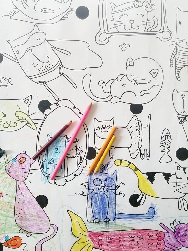 Affiche géante à colorier - Chat