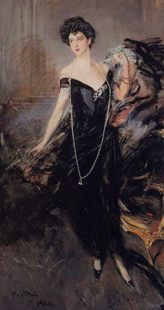 Джованни Больдини (Giovanni Boldini ) Donna Franca Florio, 1924