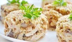 Ореховый салат с кальмарами - 1000