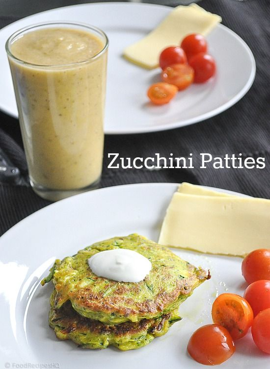 Vibrant Green Zucchini Patties. Flavor was good, but I could not get mine to form a patty. I ended up dumping the whole mixture into a big frying pan and making a weird hash. It was a good-tasting hash, but not what I was going for.