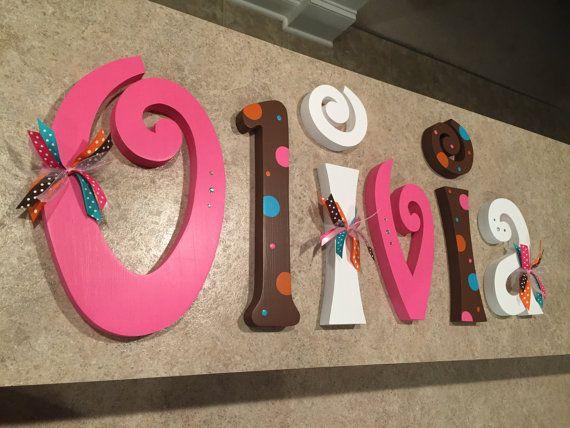 Colgante letras infantiles letras infantiles beb ni a vivero cartas letras de pared del - Letras bebe decoracion ...