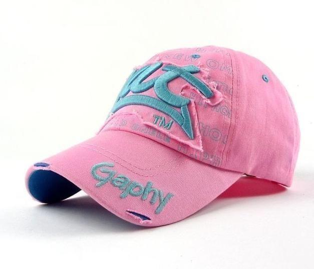 casquette de baseball rose et turquoise