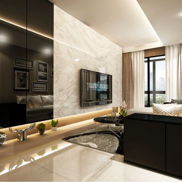 Waterwoods ec executive condo singapore interior design for Living room interior design singapore
