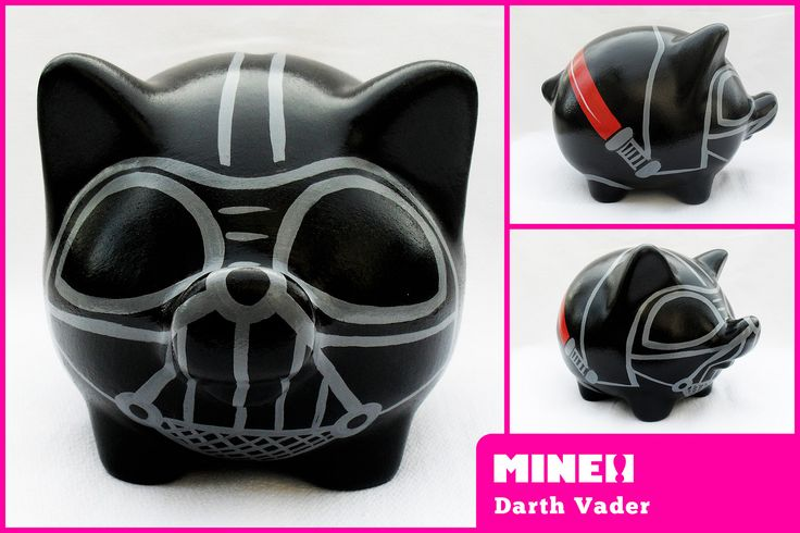 https://flic.kr/p/nBwm5E | darth vader / star wars | Chanchitos - Cerditos -  Puerquitos - Marranitos - Huchas - Alcancías - Decoradas, artesanales y personalizadas de Mine! Objetos. Decorated piggy banks. Hand painted piggy banks.www.mineobjetos.com.ar