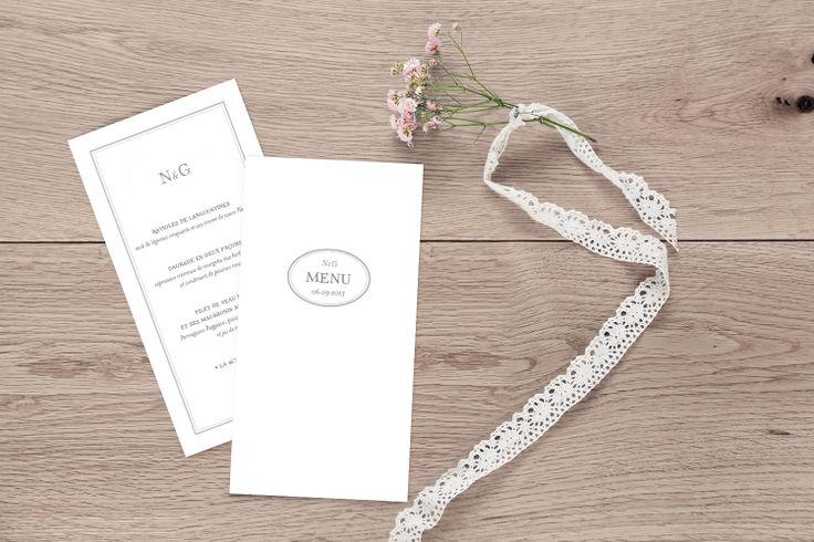 menu mariage classique by Tomoë - pour www.fairepart.fr
