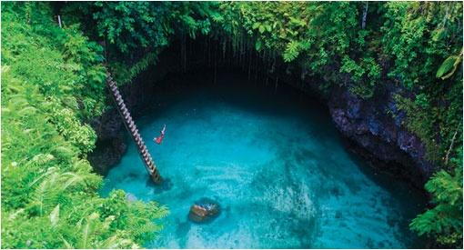 La gruta oceánica To Sua en Samoa   LaReserva