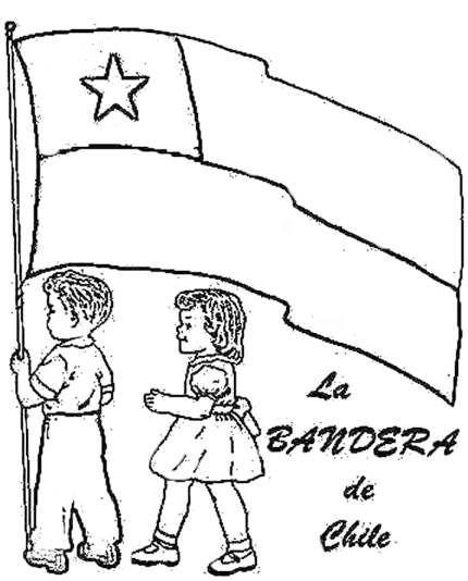 Imágenes de la Independencia de Chile dibujos para colorear | Colorear imágenes