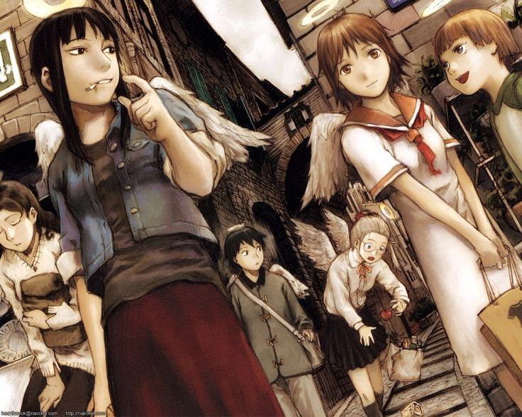 15 best images on pinterest anime art charcoal and manga while many anime are either adapted from manga or novels haibane renmei was originally conceived as a short doujinshi by yoshitoshi abe fandeluxe Gallery
