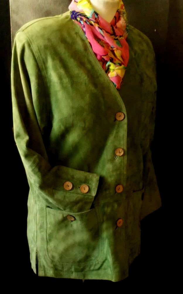 #twitter#tumbrl#instagram#avito#ebay#yandex#facebook #whatsapp#google#fashion#icq#skype#dailymail#avito.ru#nytimes #i_love_ny     Women Maddox genuine real green suede-skin Coats & Jacket size 36 #Maddox #BasicJacket