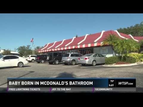 Hero Patron Delivers Choking Baby in McDonald's Bathroom - Good News Network