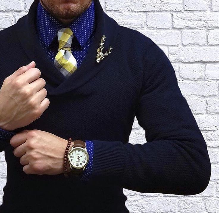 this sweater tie combo is everything