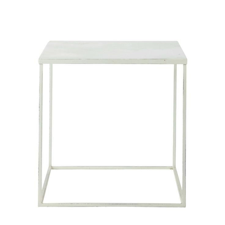 Table basse en métal blanche L 45 cm Bloom