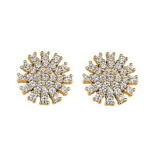 14K Yellow Gold Plated 11.3mm(H)x11.3mm(W) CZ Dandelion Flower Basket Stud Earrings with Screw-Back The World Jewelry Center. $12.95. Promptly Packaged with Free Gift Box and Gift Bag. Screw Back. Save 63%!