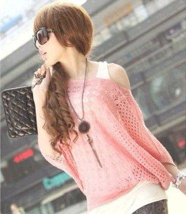 Summer women's slit neckline pullover sweater cutout shirt sun protection shirt