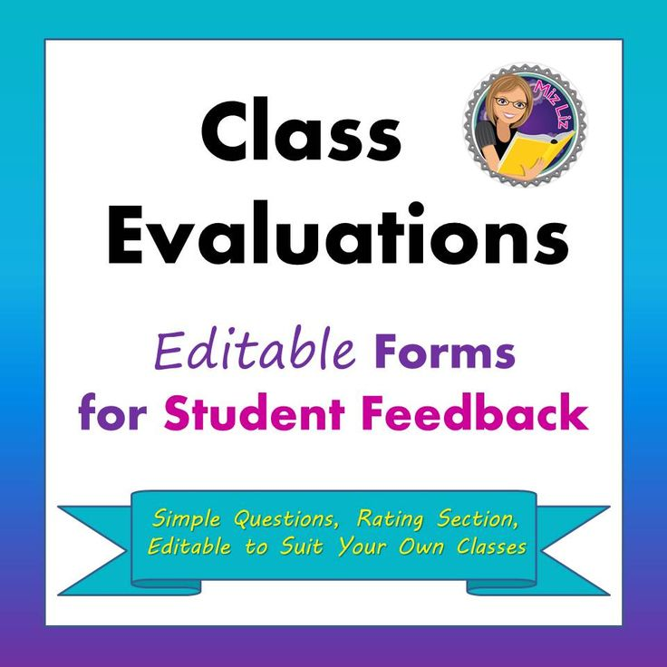 The 25+ best Evaluation form ideas on Pinterest Student self - class evaluation template