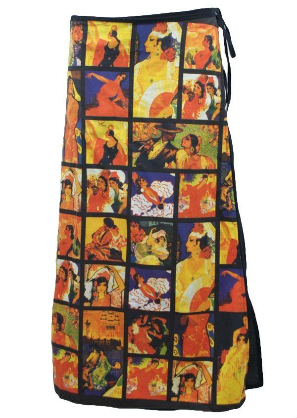 Art Print Wrap Skirt